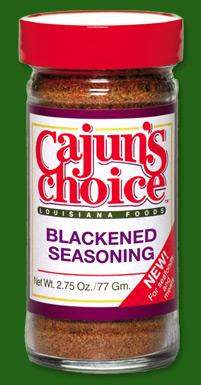 Cajun 39 s choice for Blackened fish seasoning