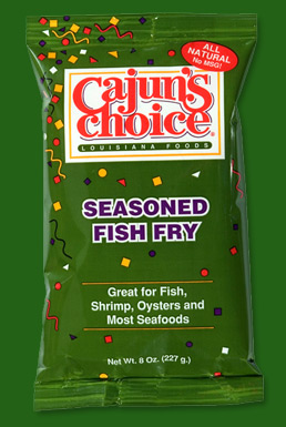Cajun 39 s choice seasoned fish fry for How to season fish for frying